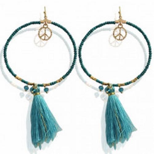 Earrings Fibe -turquoise-