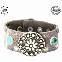 Top kwaliteit lederen armband Nederlands fabricaat
