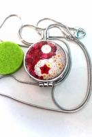 Aroma / parfum ketting met hanger bloem meditatie