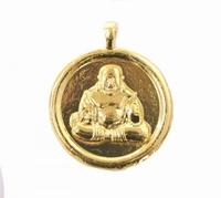 Boeddha hanger gold 4cm