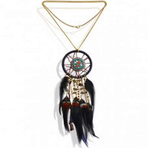 Necklace dreamcatcher peace