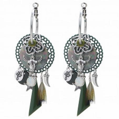 Earrings Buffalo Creoles