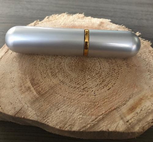 Luxe aluminium Aroma inhaler zilver leeg